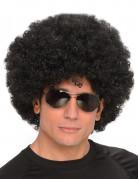 Perruque afro disco noire adulte