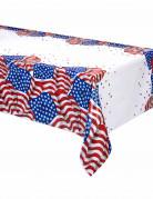 Nappe en plastique drapeau USA 137 x 213 cm