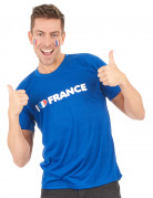 T-shirt I love france supporter adulte