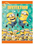 8 Cartes d'invitation Minions ™