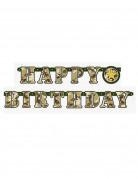 Guirlande articulée Happy Birthday militaire 1.6 mètres