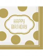 Vous aimerez aussi : 16 Serviettes en papier anniversaire doré 33 cm