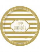 Vous aimerez aussi : 8 Assiettes en carton anniversaire doré 23 cm