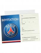 6 Cartes d'invitation + 6 enveloppes PSG™ 12 x 16.5 cm