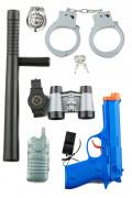 Kit Policier enfant en plastique 9 jouets