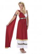 Déguisement rouge romaine femme