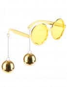 Lunettes dorées disco adulte