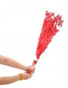 Canon à confettis rouges 20 cm