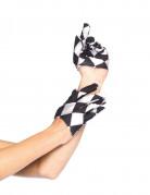 Mini gants noir et blanc adulte