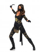 Déguisement ninja dragon d'or femme