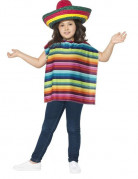 Poncho et sombrero mexicain enfant