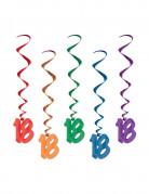 Vous aimerez aussi : 5 Suspensions en spirales 18 ans multicolores