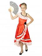 Déguisement danseuse espagnole à pois fille