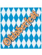 12 Serviettes en papier Oktoberfest 33 x 33 cm