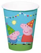 8 Gobelets en carton Peppa Pig™ 250 ml