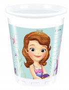 8 Gobelets en plastique Princesse Sofia™ 200 ml