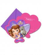 6 Cartes d'invitation avec enveloppes Princesse Sofia™