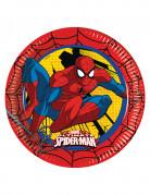 8 Assiettes en carton Ultimate Spiderman™ 23 cm