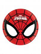 8 Petites assiettes en carton Ultimate Spiderman™ 18 cm