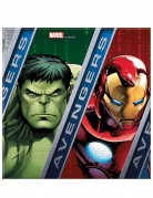 20 Serviettes en papier Avengers Power™ 33 cm