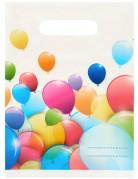 6 Sacs cadeaux ballons volants 16,5 x 23 cm