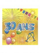 Vous aimerez aussi : 20 Serviettes en papier 30 ans Anniversaire Fiesta 33 cm