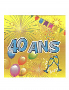 Vous aimerez aussi : 20 Serviettes en papier 40 ans Anniversaire Fiesta 33 cm