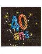 20 Serviettes en papier 40 ans feux d'artifice 33 x 33 cm