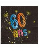 Vous aimerez aussi : 20 Serviettes en papier 60 ans feux d'artifice 33 x 33 cm