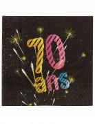 Vous aimerez aussi : 20 Serviettes en papier 70 ans feux d'artifice 33 x 33 cm