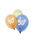 Vous aimerez aussi : 8 Ballons en latex anniversaire 50 ans 30 cm