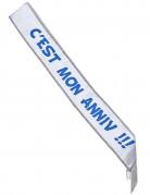 Vous aimerez aussi : Écharpe en satin c'est mon anniv !!! blanche et bleue 150 x 10 cm
