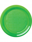 50 Petites assiettes en plastique vert 17 cm