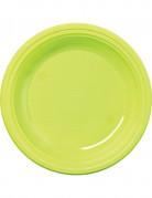 50 Petites assiettes en plastique vert anis 17 cm