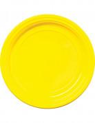 30 Assiettes en plastique jaune 22 cm
