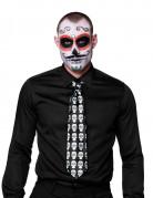 Cravate squelette colorée adulte Dia de los muertos