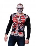 Vous aimerez aussi : T-shirt manches longues squelette sanglant homme Halloween
