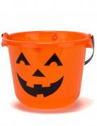 Seau citrouille à LED 22 x 17 cm Halloween