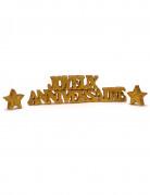 Vous aimerez aussi : Décoration de table dorée Joyeux Anniversaire