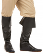 Sur-bottes noires simili cuir adulte
