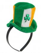 Serre-tête mini chapeau Ireland avec trêfle adulte