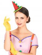 Serre-tête mini chapeau clown pointu adulte