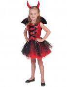 Déguisement diablesse tutu avec ailes fille Halloween