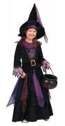 Déguisement sorciere des bois velours fille Halloween