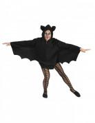 Cape chauve-souris noire femme Halloween