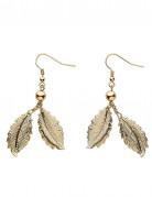 Boucles d'oreilles feuilles de laurier - femme