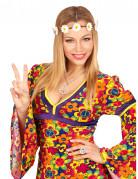 Bandeau fleurs hippie adulte