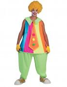 Déguisement clown fluo adulte