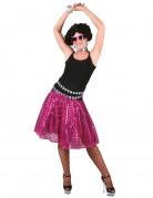 Jupe disco rose à sequins femme