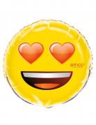 Ballon aluminium coeurs dans les yeux Emoji™